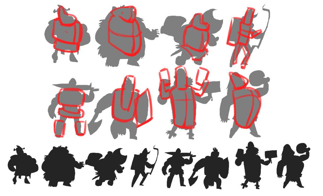 Character Design Class : Rick lacy character design class lesson silhouette