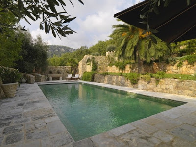 Swimming Pool-Fairy Tale Castle on the French Riviera, Swimming Pool Decorating Ideas