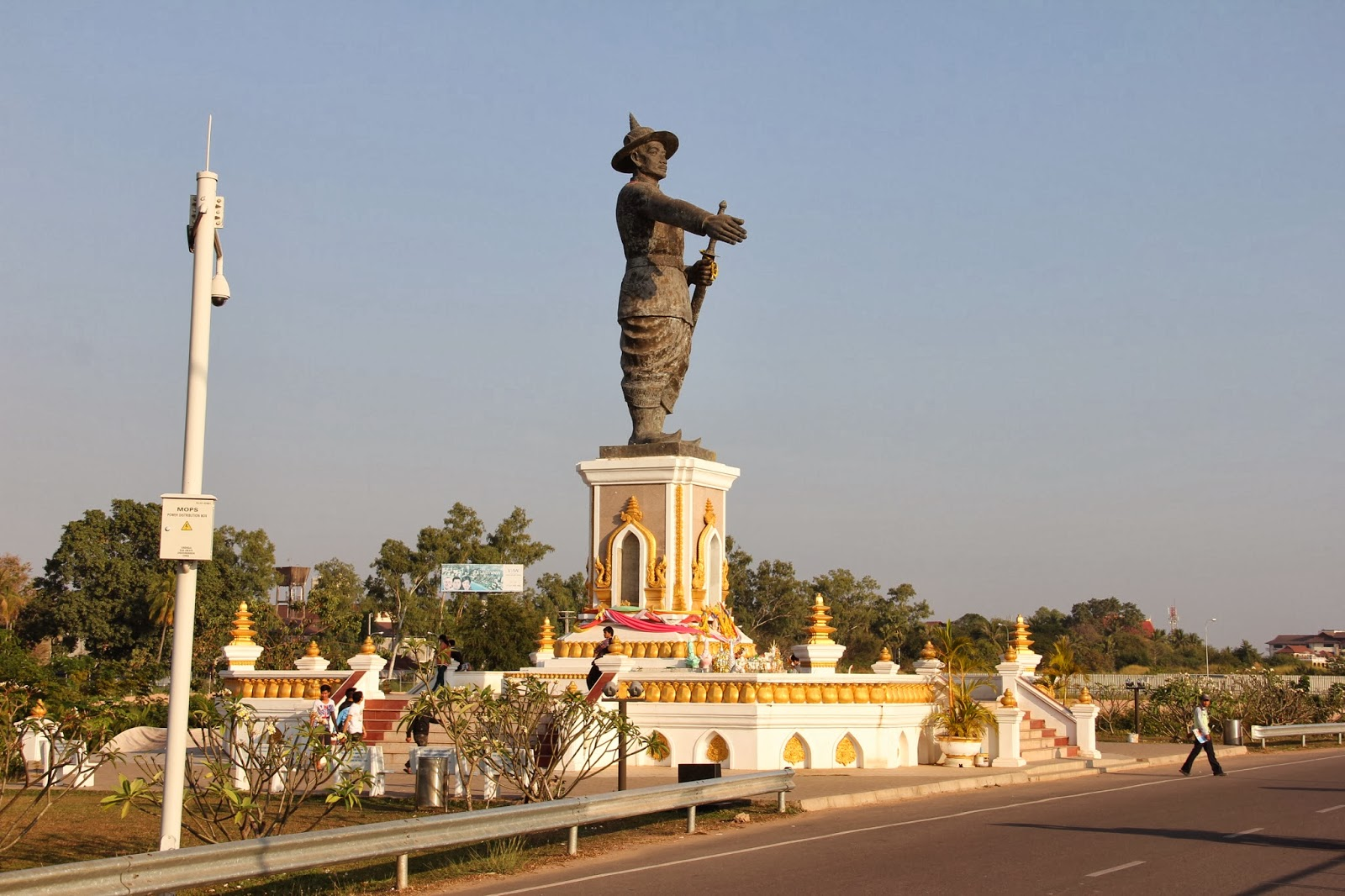Riverside Park in Vientiane, Laos
