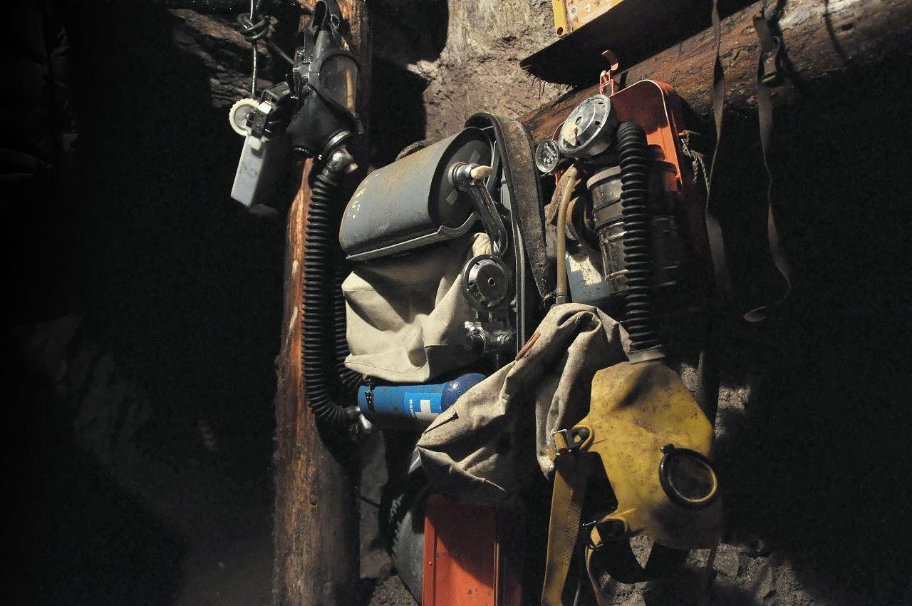Sprzęt ucieczkowy w kopalni uranu w Kletnie