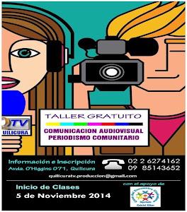 TALLER GATUITO DE COMUNICACIÓN AUDIOVISUAL Y PERIODISMO COMUNITARIO.