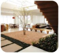 model taman minimalis dalam rumah