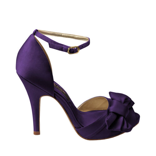 Purple High Heels For Kids