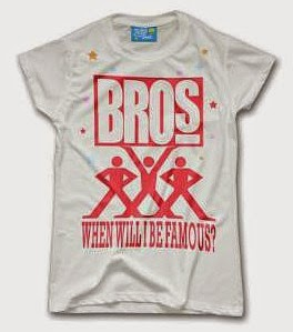"""Bros """"When Will I Be Famouse"""" logo T-shirt"""
