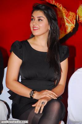 Hansika Motwani Sexy Photos In Black Transparent Outfit