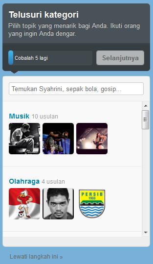 Kategori Pada Twitter