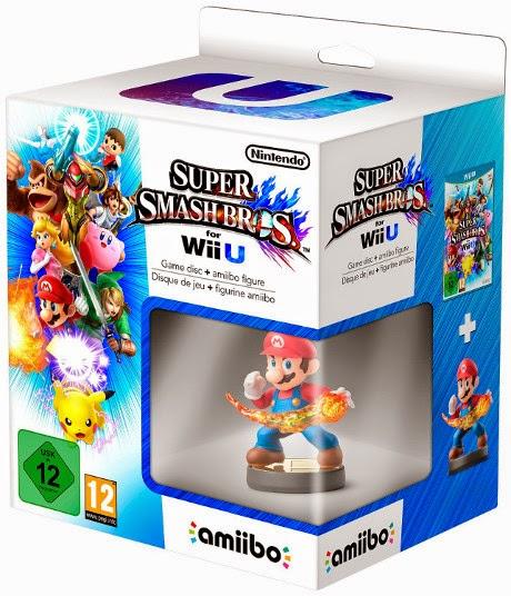 VIDEOJUEGOS - Super Smash Bros + Figura Amiibo Mario  Plataforma: Nintendo Wii U (5 Diciembre 2014) | Edad: +12 años