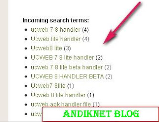 Cara Memasang incoming search terms pada blogspot