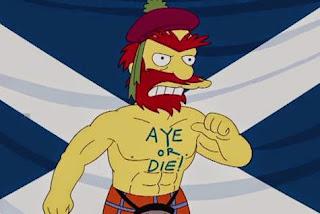 Willie, le jardinier des Simpson prend position sur l'indépendance de l'Écosse