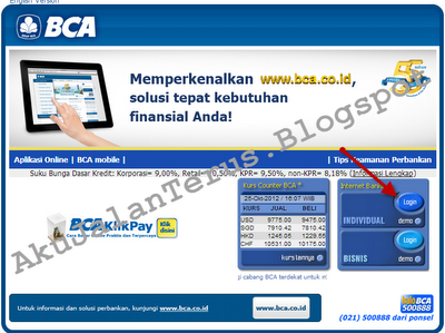 Login BCA Internet Banking