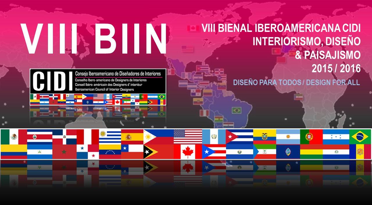VIII BIIN BIENAL IBEROAMERICANA CIDI DE INTERIORISMO 2015 - 2016.