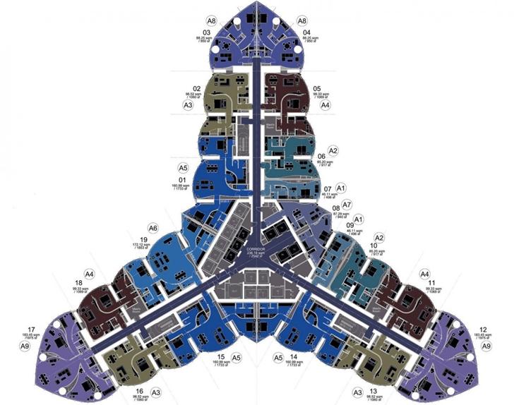 Floor plan of Armani Burj Khalifa Hotel Dubai