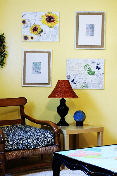 Easy Map wall decor – tutorial