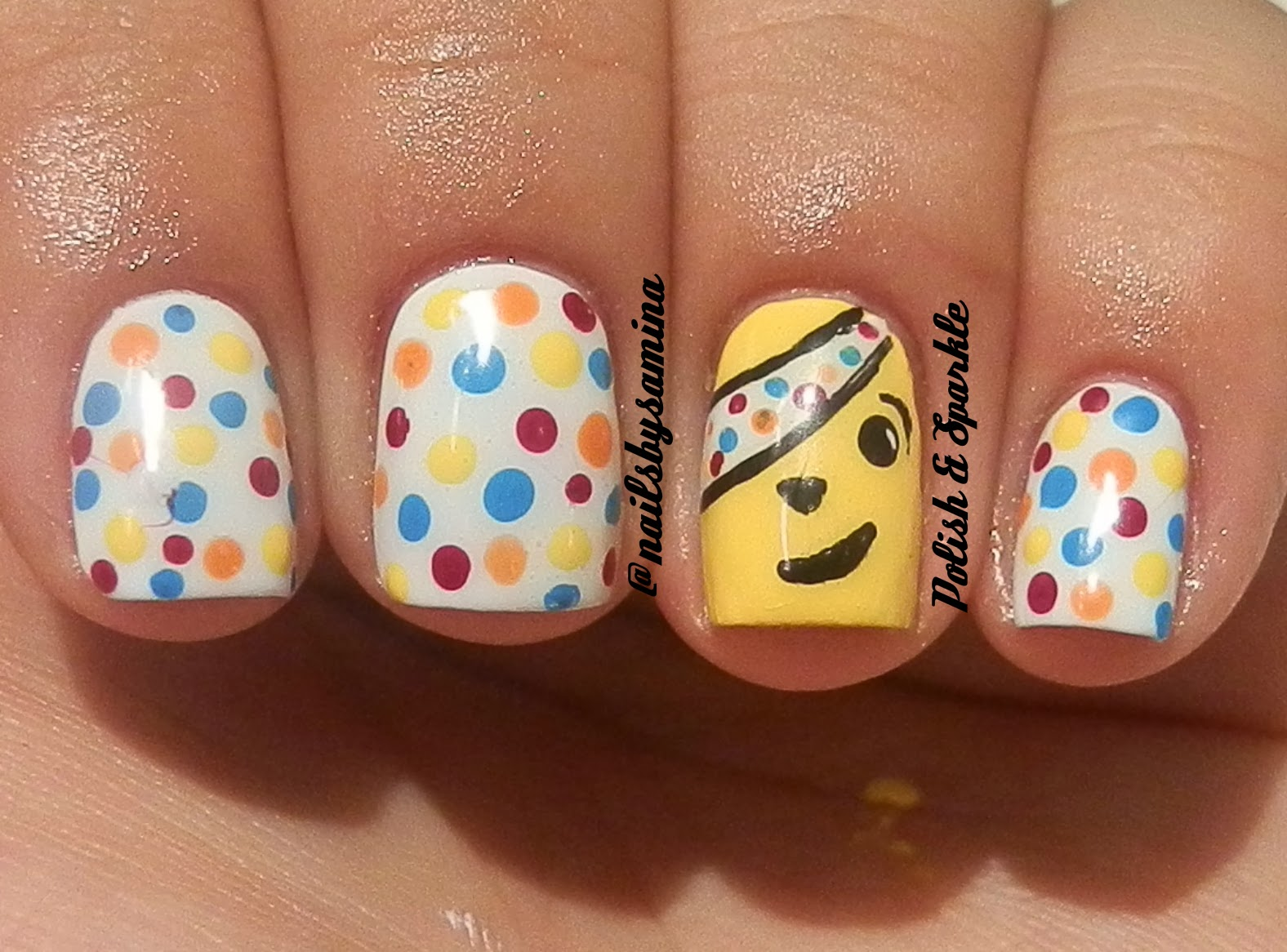 Polish Sparkle Children In Need Pudsey Nails