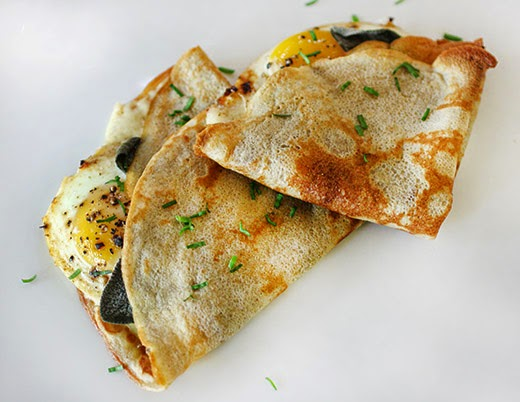 lisa is cooking: Buckwheat Crepes with Gruyere, Sage, and Sunny-Side ...