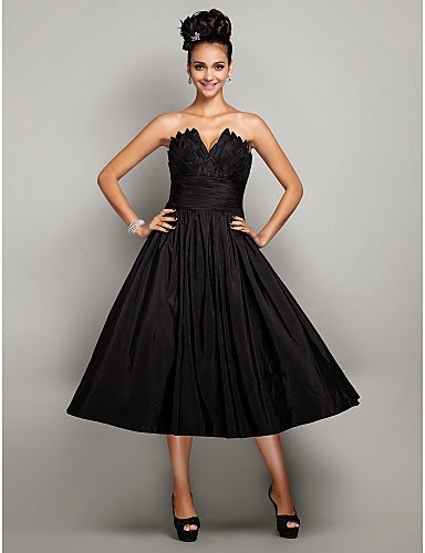 Bonitos vestidos de fiesta de color negro