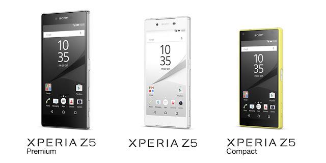 Tiga seri Sony Xperia Z5 resmi diperkenalkan, dibekali layar 4K dan sensor kamera terbaru