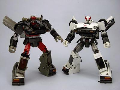 Takara/Tomy Transformers Masterpiece Bluestreak and Prowl Figures