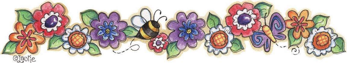 Flores Y Abejas Bordes De Flores Para Imprimir Flores Y