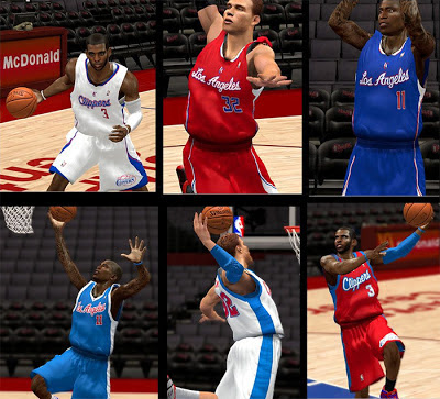 NBA 2K13 Los Angeles Clippers Jersey Pack
