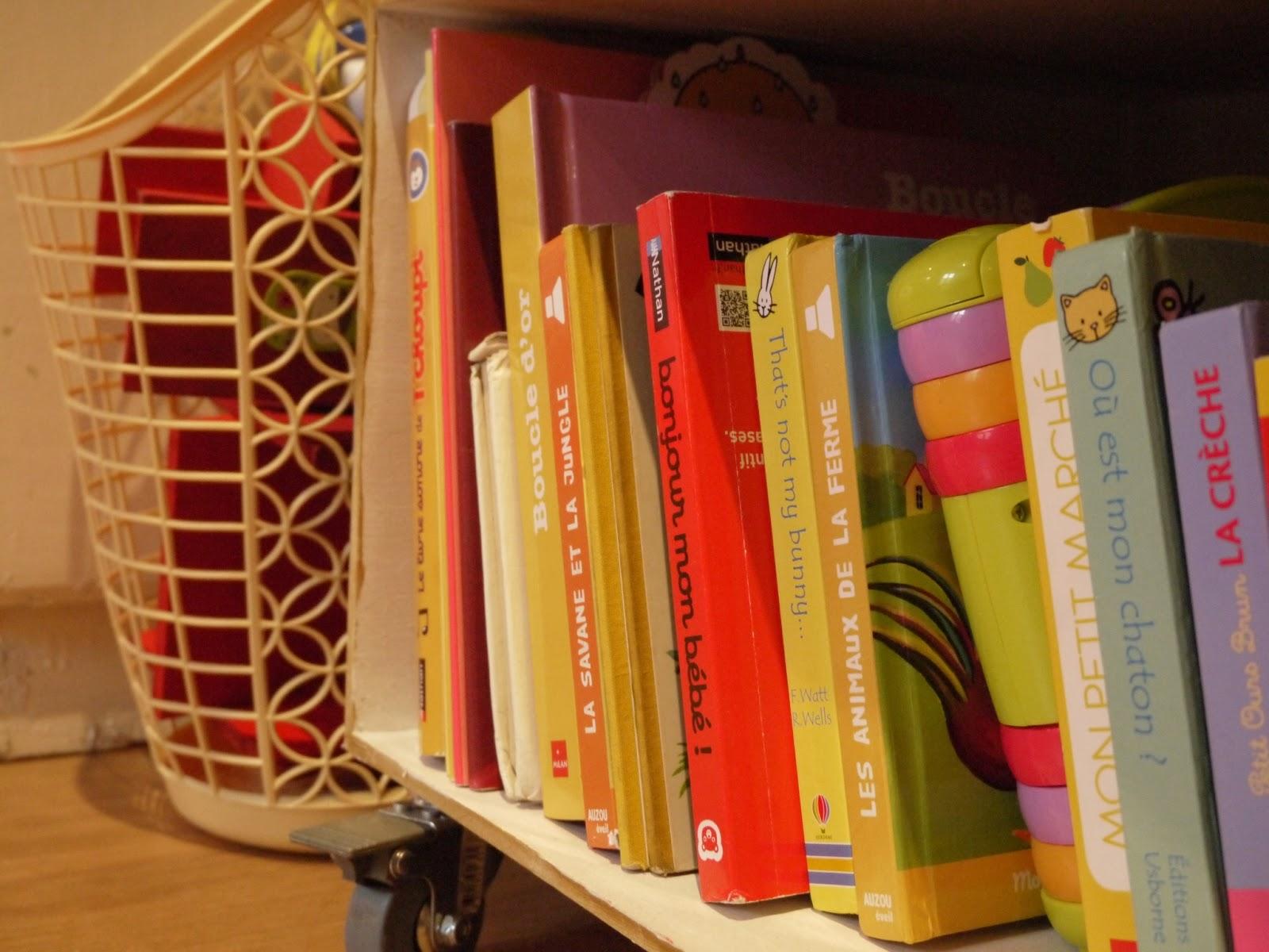 livres et panier vintage