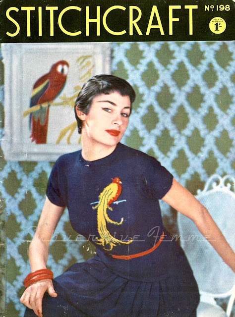 1950s stitchcraft magazine, free vintage knitting pattern