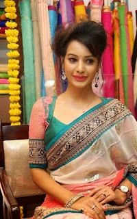 Actress Diksha Panth Latest Pictures in Saree at Nakshatra Designer Store Launch  6.jpg