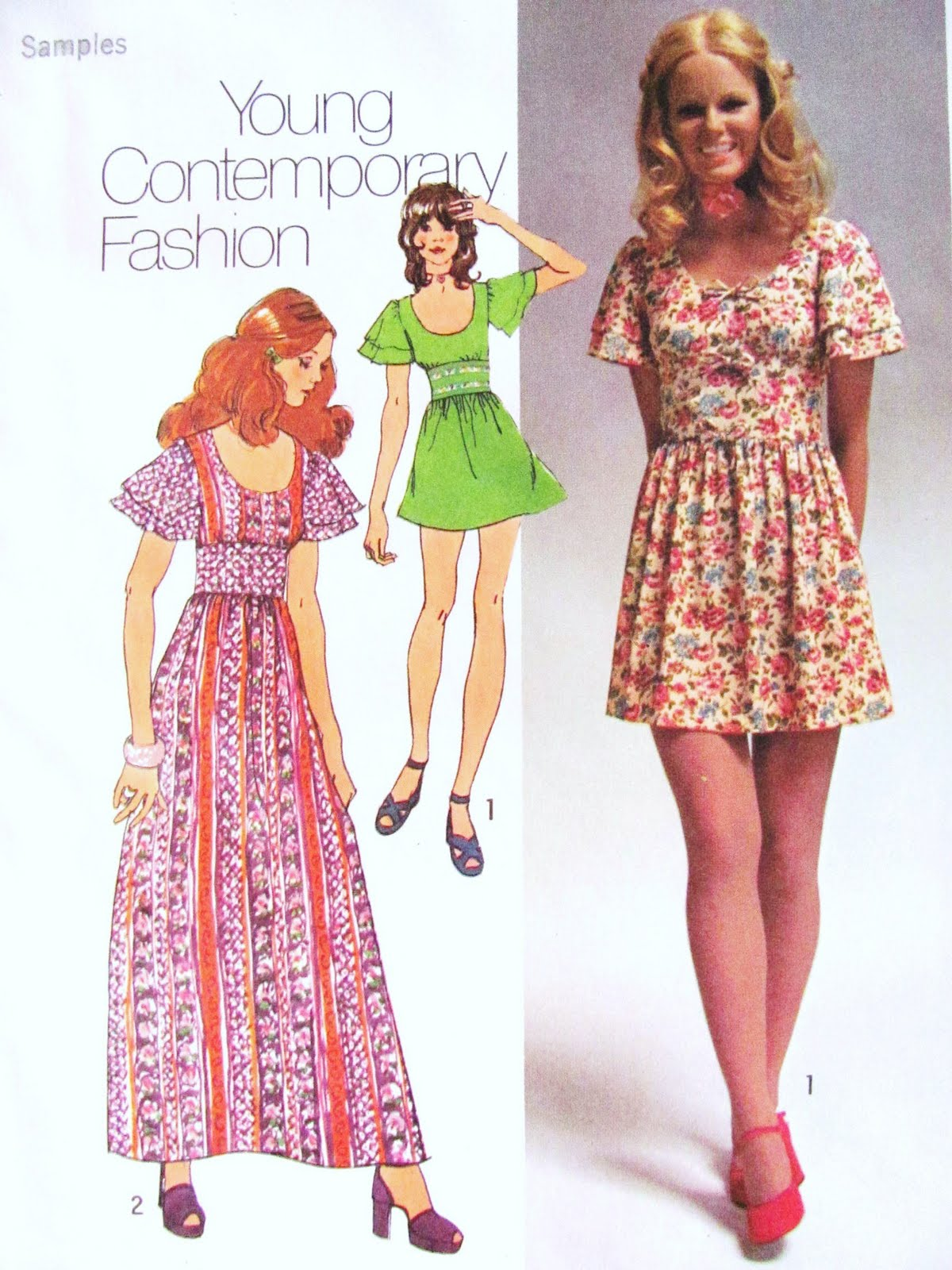 Prom dress styles from 1972