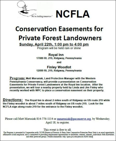 4-22 Conservation Easements For Private Forest Landowners