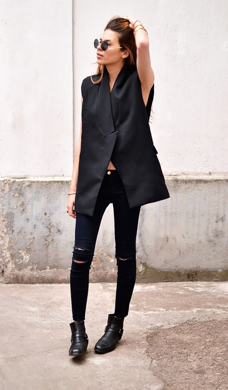 Maja Myh, German blogger, monochromatic, style, menswear, tuxedo