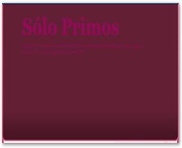 Blog : Solo primos