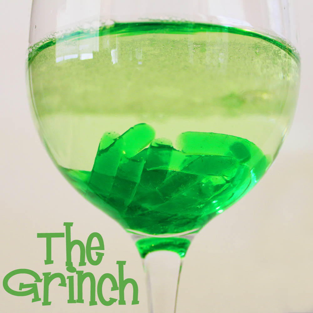 The grinch holiday cocktail
