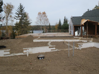 filling foundation, lake home, ely mn, huisman