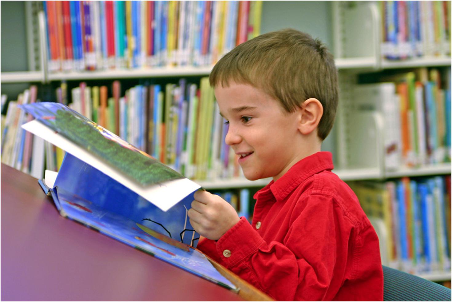 Фото маленького хлопчикав бібліотеці 11 фотография