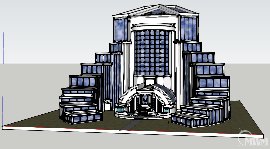 Front view in Sketchup