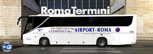 Rome Favourites - to get to and from the airport we used Rome Airport Bus (Schiaffini).