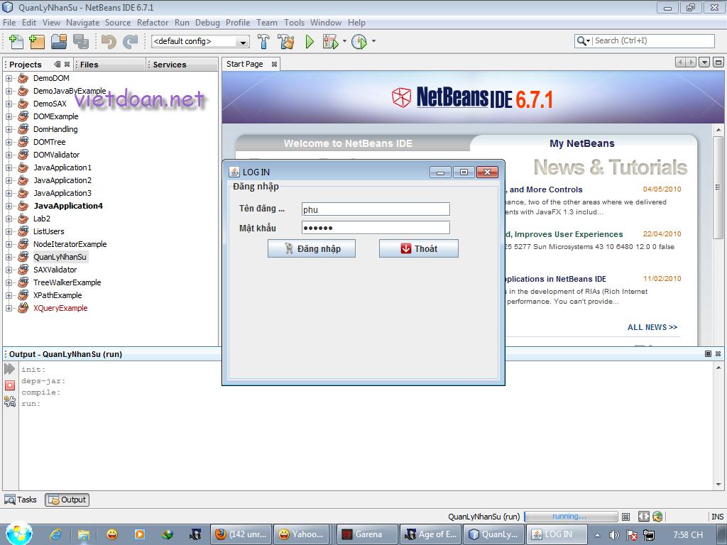 Mã nguồn phần mềm Quản lý nhân sự bằng Java
