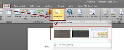How to insert screenshots instantly in Office files?