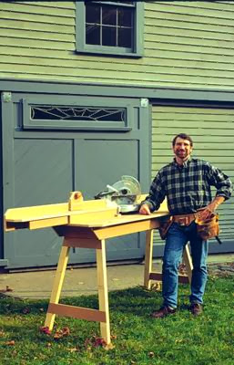 norm abram miter saw stand, build plans, how to, job site stand