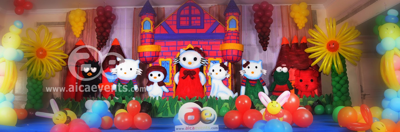 Aicaevents India Hello Kitty Theme Birthday Decorations