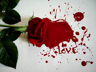 blood on flower Love Quote and Saying