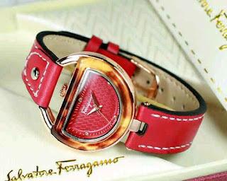 jam tangan cewek murah kw super Ferragamo Leather merah