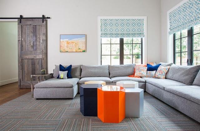 Teppich Wohnzimmer Bunt Farbgestaltung Sommerpalette