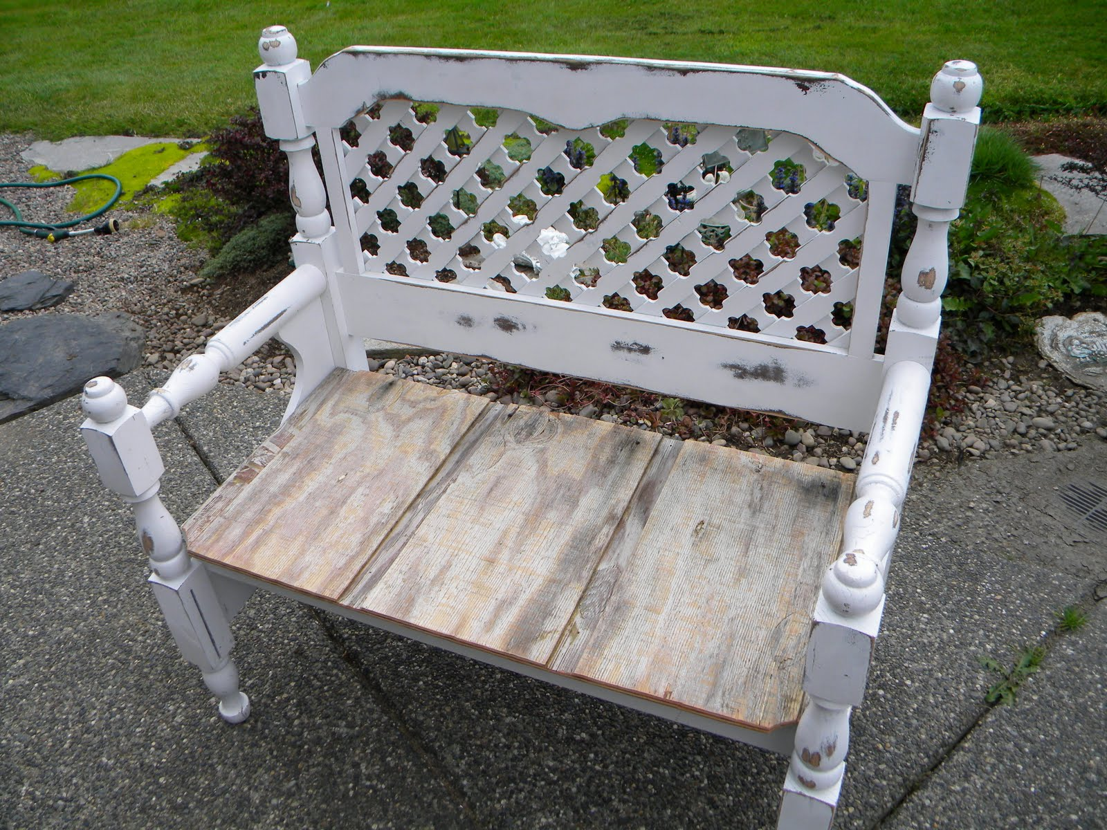 Bench Out Of Headboard Sadie Lane Antique Treasures