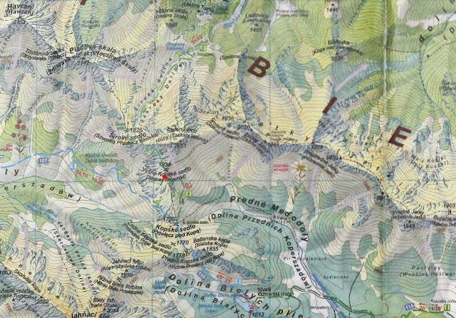 Szalona Kazalnica na mapie