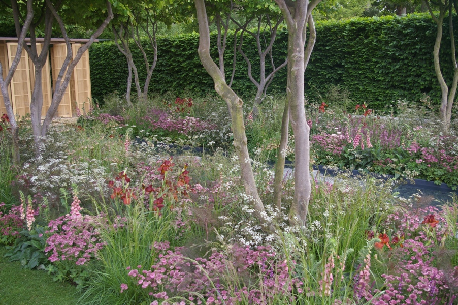 The laurent perrier garden designed by luciano giubbilei was very