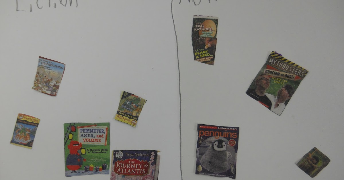 mrs t s first grade class nonfiction fiction sort from
