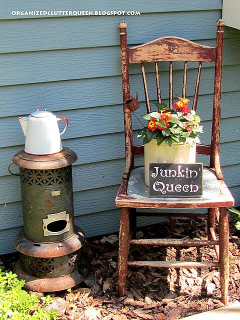 Junk Garden Vignette & Sign