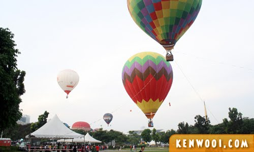 putrajaya hot air balloon colorful