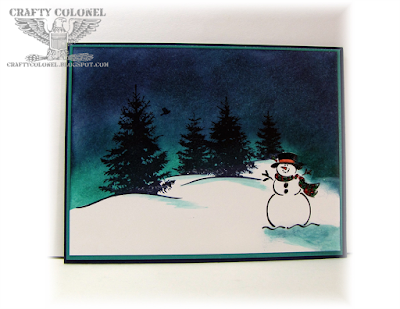 Crafty Colonel Donna Nuce for CASE-ing Christmas, Stampin'Up! Best of Snow, Scenic Season, Winter Card